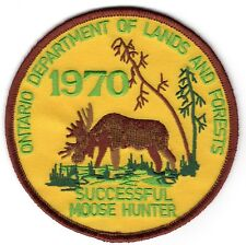 1970 Ontario Successful Moose Hunting Patch (only have 2) Michigan Bear Deer #3