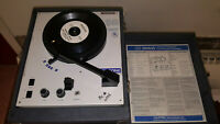 CALIFONE MODEL 1010AV PORTABLE FOUR-SPEED RECORD PLAYER PHONOGRAPH! WORKS GREAT