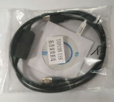 NEW USB Download Data Cable for TOPCON SOKKIA Total Stations WIN8, WIN7 system