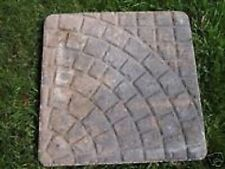 "paver stepping stone molds set of 4 1/8th"" poly plastic moulds cast 100's"