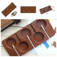 6 Cell Round Lollipop Silicone Chocolate Mold DIY Cake Dessert  Candy Bake Tool