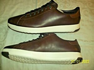 COLE HAAN GRANDPRO Tennis Shoes Soft Smooth Leather Men's 14 M Brown NIB $150