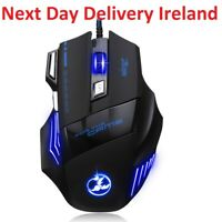 5500 DPI Optical 7 Button LED Wired Gaming Mouse Mice for Pro Gamer PC Laptop