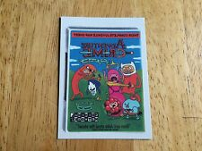 2015 WACKY PACKAGES TATTOOS TATTOO MONSTER ADVENTURE TIME CRIME 9 BRAND NEW MINT