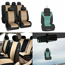 Neoprene Car Seat Covers Full Set For Auto Car Suv Coupe Beige With Freshener Fits Jeep Cherokee