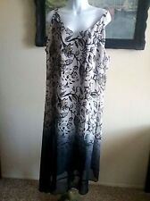 LANE BRYANT multi colored spaghetti strap dress. Plus size 22/24 Floral Pattern