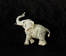 Swarovski Pave Crystal Elephant Brooch Pin - No Box No Tags