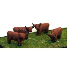 More details for painted 4off assorted highland cattle(n scale 1/148th) - langley a105p -