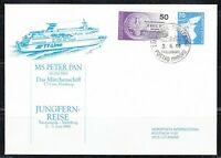 Germany BRD 1985 brief cover MS Peter Pan trip Schiffspost ship cancel