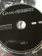 Game of Thrones Season 4 REPLACEMENT DVD Disc #2 ONLY