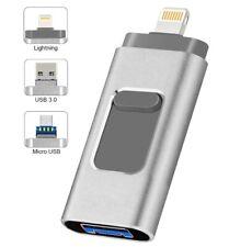 iPhone Flash Drive 256GB for iOS Memory Stick USB3.0 Photo Stick 3in1 Thumb Driv