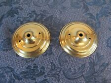 Pair Vintage Kalco Brass Wall Sconce Back Plate