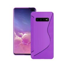 Case For Samsung Galaxy S10 Plus S-Line Silicone Gel Skin Various Colours Cover