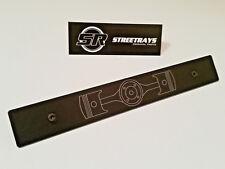 SR STEALTH Front License Plate Delete Subaru Boxer Engine Laser Engraved Logo