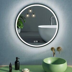 LED Sensor Mirror, Round Human Body Induction Vanity Mirror
