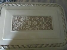 Marshall-White Company Chicago Bakelite Estate Flatware Chest Scroll & Floral