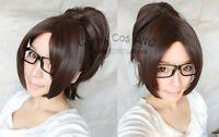 Attack on Titan/Hanji Zoe Dark Tea Brown Cosplay Wig With Clip On Ponytail