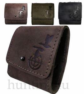 Hunting Leather Shotgun Cartridge Holder Shell Holder Holds 5 Cartridges 7.62cal