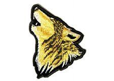 "(L09) Large HOWLING WOLF 11"" x 9.5"" iron on back patch (3756) Biker vest"