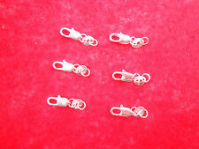 20PCS DIY Jewelry Connector 925 Sterling Silver Lobster Clasps 925 Stamped Tag