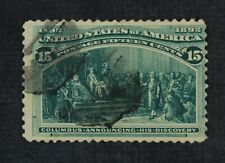 CKStamps: US Stamps Collection Scott#238 15c Columbian Used CV$82.50