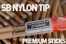 SONOR 5B NYLON TIP DRUM STICKS BY VIC FIRTH (BRICK OF 12 PAIRS)