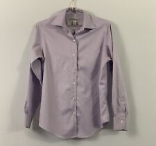 Brooks Brothers Size 6 Top Blouse Purple Button Up Long Sleeve Non Iron W192