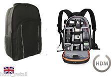 grande negro Cámara DSLR SLR Mochila Funda Para Nikon Sony Canon