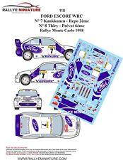 DECALS 1/24 REF 0118 ESCORT WRC KANKKUNEN RALLYE MONTE CARLO 1998 RALLY