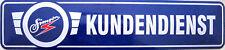 Blechschild Straßenschild Schild - Simson Kundendienst Moped DDR