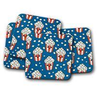 4 Set - Cinema Popcorn Coaster - Film Lover Junk Food Sweet Salted Gift #15202