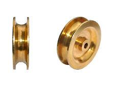 1 Stk. Seilrolle-Umlenkrolle  Messing für 8mm Seile - 40mm Modellbau - Nr. A 109