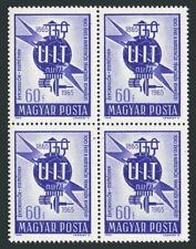 Hungary 1680 block/4,MNH.Michel 2124. ITU-100,1965.Communication equipment.