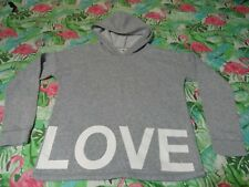 Girls Gray Old Navy LOVE Hoodie Sweatshirt - SZ XL (14)