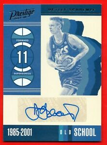 DETLEF SCHREMPF 2017-18 PANINI PRESTIGE OLD SCHOOL AUTOGRAPH SEATTLE SUPERSONICS