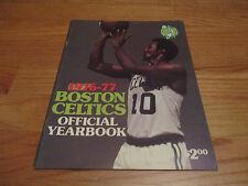 1976-77 BOSTON CELTICS Yearbook JO JO WHITE JOHN HAVLICEK DAVE COWENS