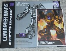 Transformers Combiner Wars DRAGSTRIP bio card and manual