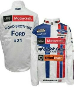Matt DiBenedetto #21 Motorcraft 2020 Snap Up Uniform Replica Pit Jacket