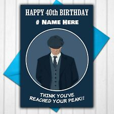 Peaky Blinders Personalised 30th 40th 50th Birthday Card Any Name/Age/Relative