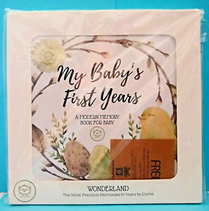 KeaBabies MY BABY'S FIRST YEARS Baby Modern Memory Book Wonderland NEW Sealed