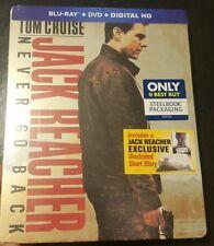 ☆《》NEW Jack Reacher: NEVER GO BACK (BLU-RAY/DVD, Only  Best Buy) STEELBOOK ☆《》
