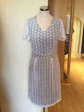 James Lakeland Dress Size 14 BNWT Cream Navy RRP £199 Now £49