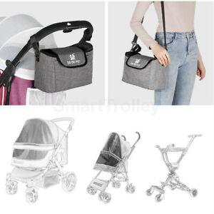 Baby Pet Stroller Pram Storage Organizer Universal Fit With Shoulder Strap