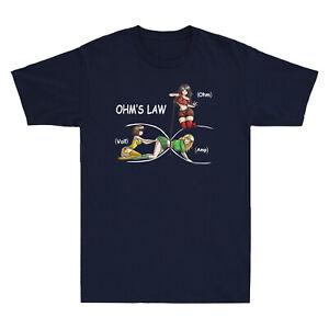 Girls Ohm's Law Electricity Ohm Volt Amp Funny Electrician Nerd Men's T-Shirt