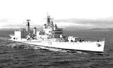 ROYAL NAVY TIGER CLASS LIGHT CRUISER HMS BLAKE AT SCAPA FLOW IN 1972