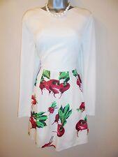 Diana Vickers DeeV Radish Print Long Sleeve Skater Evening Occasion Dress 14