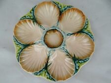 Sarreguemines - Gorgeous French Majolica Oyster Platter