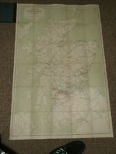 1923 Railway Clearing House Official Map Of Scotland Large Fold Out Linen-Backed