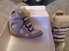 isabel marant sneakers wedge, beige, black trim, 40. Box.