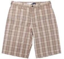 Oakley Yard Shorts New Khaki Size 32 Mens Golf Chino Plaid Walkshort Walkshorts
